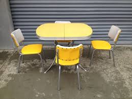 retro chrome kitchen table and chairs 1950 s 60 s retro vintage yellow chrome formica kitchen