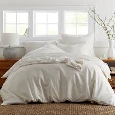 the company ivory bamboo cotton queen duvet cover