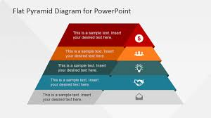 Pyramid Ppt 5 Levels Flat Pyramid Diagram Template For Powerpoint