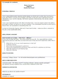 Sample Profile Statement For Resume Cv Profile Examples Student Resume Sample Profile Profile Example 98