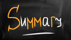 difference between summary and analysis