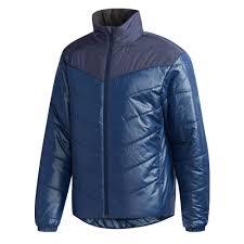 adidas cytins padded puffa mens winter coat jacket navy blue l incl