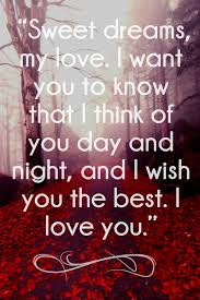 Love Sweet Dreams Quotes Best of 24 Sweet Dreams My Love Quotes For Her Him