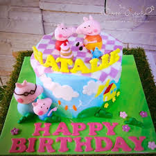Endearing Peppa Pig Birthday Cake Peppa Pig Cakes Cakes By Robin To