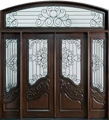 luxury front doorsFront Door Custom  Double with 1 Sidelite  Solid Wood with