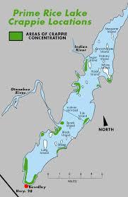Fishing Map Of Rice Lake