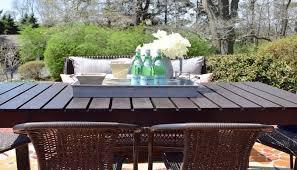 Diy patio table Umbrella Diy Patio Table Hometalk How To Build Diy Patio Table Hometalk