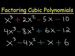 How To Factor A Cubic Factoring Cubic Polynomials Algebra 2 Precalculus Youtube