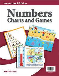 Abeka Phonics Charts And Games Abeka K4 K5 Homeschool Numbers Charts And Games 18 79