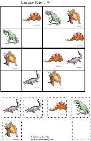 Printable Sudoko for Kids - Dinosaur Sudoko 4 X 4   DINOSAURES ...