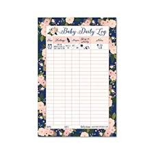 Daily Log Chart Newborn Baby Log Tracker Journal Book Infant Daily Schedule Feeding Food Sleep Naps Activity Diaper Change Monitor Notes For Babies Mommy Nursing