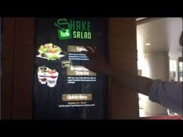 Salad Vending Machines Classy Choosing Different Salad Combos From Shake Salad Vending Machine