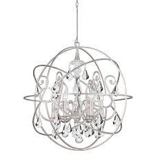 solaris 6 light crystal silversphere chandelier