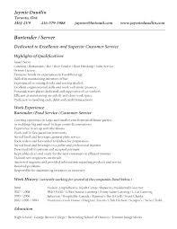 Server And Bartender Resume Free Resume Template Evacassidyme Delectable Server Bartender Resume