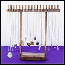 Long Necklace Display Stand Craft show display Long necklace display using a frame Siren 37