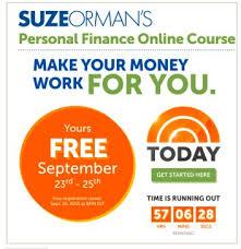 Free Suze Orman Personal Finance Online Course Money