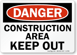 Printable Construction Signs Danger Construction Area Keep Out Sign Sku S 0798