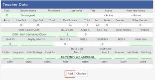 Teacher Record Teacher Data Aeries Software