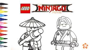 Lego Ninjago Movie Master Wu And Lloyd Coloring Pages For