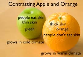 compare contrast lesson for kids definition examples video  apple orange contrast