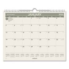 Year At A Glance Calendars Recycled Wall Calendar 15 X 12 2020