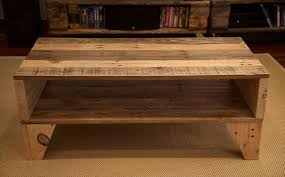 easy handmade pallet coffee table