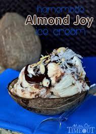 almond joy ice cream no machine homemade