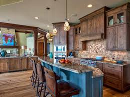 Neutral Kitchen Picture Of Rustic Neutral Kitchen With Pendant Lights And Stone