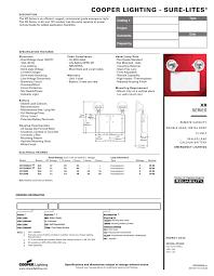 Cooper Power And Lighting Cooper Lighting Sure Lites Catalog Type