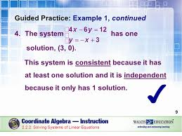 guided practice example 1 continued the system has one