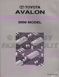 toyota avalon service manuals shop owner maintenance and 2008 toyota avalon wiring diagram manual original