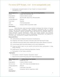 Qtp Sample Resume For Software Testers Beautiful Qtp Sample Resume