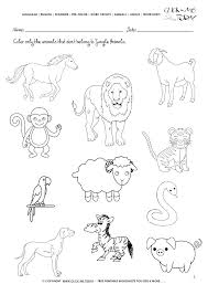 Printable Activity Pages For Kids Coloring Animals Worksheets Jungle ...
