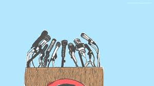 how i overcame the fear of public speaking illustration of podium microphones
