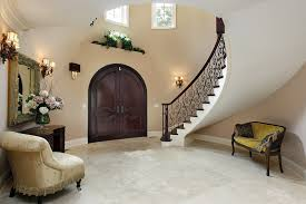 furniture for the foyer. Luxury Foyer With Arched Doorway, Table And Furniture For The