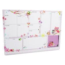 Weekly Planner Wall Chart Assorted Office Stationery Supplies At The Works
