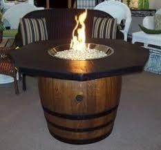 Image result for bourbon barrel table