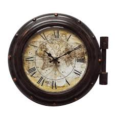 yosemite home decor old world cppuccions brown og wall clock