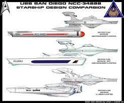 Federation Starship Designs Uss San Diego Ncc 34888 Starship Design Comparison Star