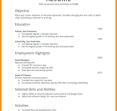 Psychology Resume Examples Mesmerizing Resume Examples Simple Resume Examples Basic Example School