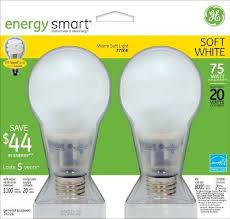 general electric lighting. ge 74726 20-watt energy-smart covered glass cfl light bulbs, 75-watt equivalent, 2-pack by general electric. $29.10. from the manufacturer lighting electric