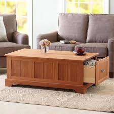 coffee table with storage drawers woodworking plan from wood
