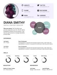 Resume Chart Infographic Resume Template Venngage