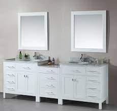 Avola 92 Inch Double Sink Bathroom Vanity White Finish Cheap Bathroom Vanities Double Sink Bathroom Vanity Bathroom Vanity Designs