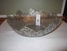 Large Silver Decorative Bowl Metal Decorative Bowls EBay 95