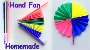 diy homemade paper hand fan best out of waste kids craft idea you