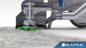 a single disc concrete floor grinder blastrac surface preparation animation you
