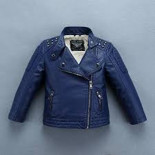 heavyweight thick boys leather jacket with fur for autumn winter kids warm coat er children s clothing baby boy jacket