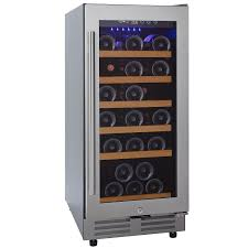Cabinet With Wine Cooler Wine Enthusiast Classic 15 Inch Under Counter Wine Refrigerator