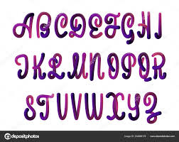 font set with letters glossy alphabet 3d render of bubble font with glint and
